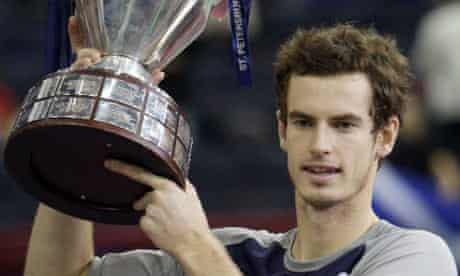 Andy Murray in the final of the St Petersburg Open