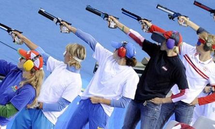 Modern pentathlon shooting