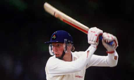 Mike Atherton bats for the Combined Universities team against Worcestershire