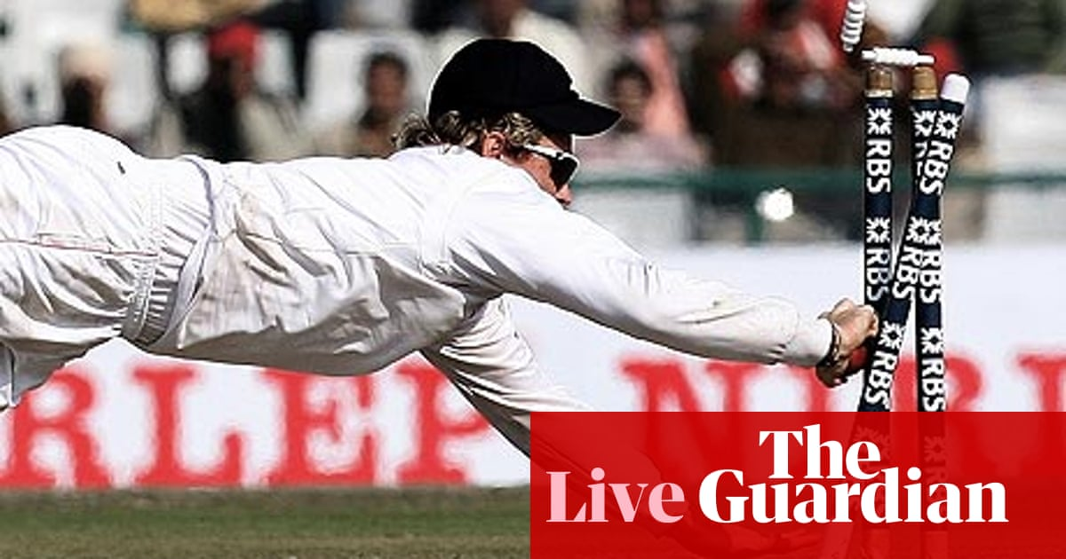 India v England - as it happened | Sport | The Guardian