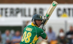 Herschelle Gibbs in action for South Africa against England Lions at Grace Road in August 2008
