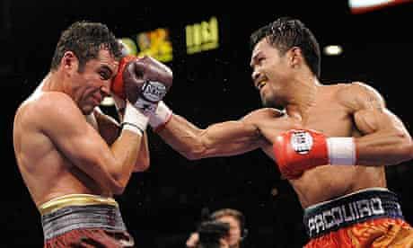 Manny Pacquiao and Oscar De La Hoya