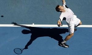 Andy Murray in action against Fernando Velasco