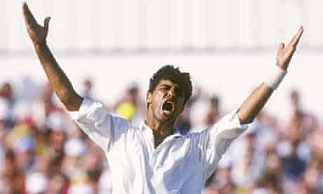 Waqar Younis at Headingley in 1992