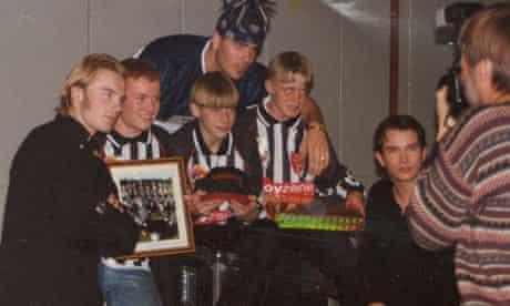 Park Hall Rangers FC with Boyzone.