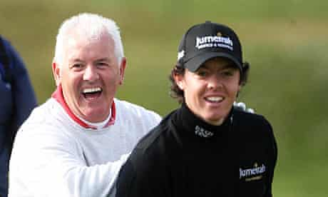 Rory McIlroy at Carnoustie golf course with his father Gerry