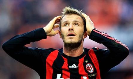 David Beckham spent six months at Milan earlier this year