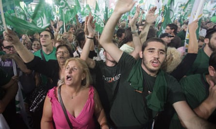 Supporters Rally For Greek Socialist Party