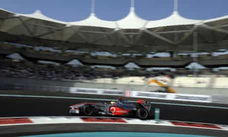 Lewis Hamilton comfortably secured pole in the new £800m circuit in Abu Dhabi