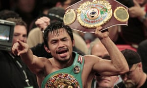 Manny Pacquiao, the Filipino boxer