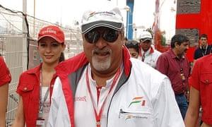 Force India's Vijay Mallya