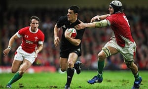 All Black fly-half Dan Carter in action against Wales