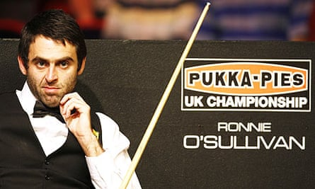 Ronnie O'Sullivan is in line to win 320 pies along with the UK Snooker Championship title