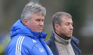 Guus Hiddink first day at Chelsea