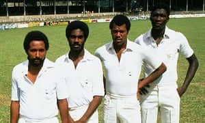 Andy Roberts, Michael Holding, Colin Croft and Joel Garner in 1981