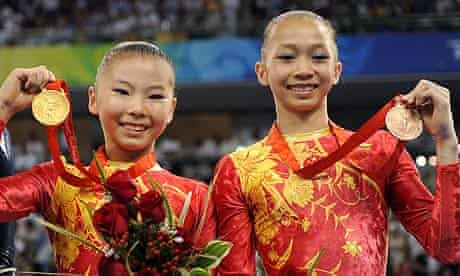 Chinese gymnasts He Kexin and Yang Yilin