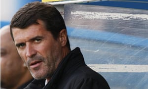 Roy Keane watches Ipswich's 3-0 win against Cardiff at Ninian Park