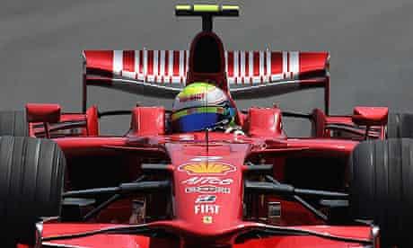 Ferrari's Felipe Massa at the Brazilian grand prix of 2008.