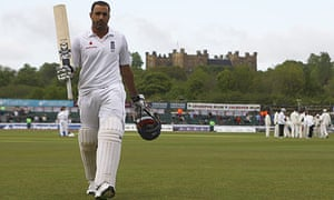 Ravi Bopara thanks the support as he walks off after scoring his third Test ton, against West Indies