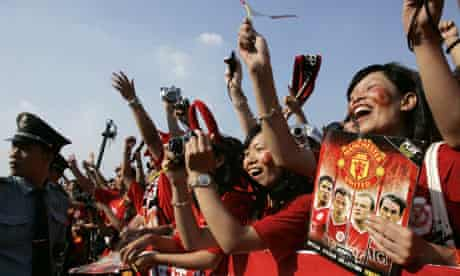 Fans of Manchester United during a promotional event in China