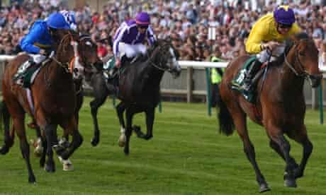 Mick Kinane on Sea The Stars wins the 2,000 Guineas at Newmarket