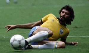 Socrates during the World Cup in Mexico, 1986