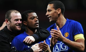Evra and Rooney