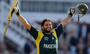 Shahid Afridi celebrates after Pakistan's World Twenty20 final triumph over Sri Lanka