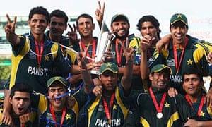Pakistan celebrate winning the World Twenty20 final against Sri Lanka
