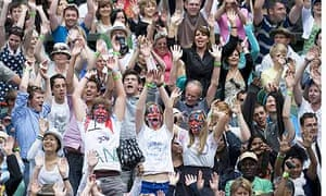 Centre Court crowd support Andy Murray