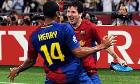 Leo Messi and Thierry Henry