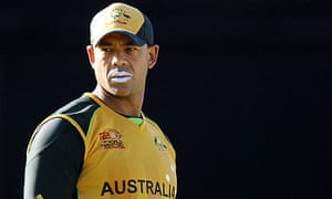Australia's Andrew Symonds looks on during the game against New Zealand at a World Twenty20 warm-up