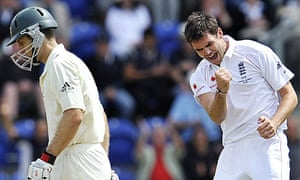 England paceman James Anderson celebrates