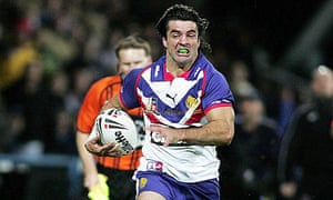 Brian Carney on Great Britain rugby league duty in 2005.