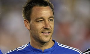 John Terry poses for a photo before Chelsea's match against Inter at the Rose Bowl