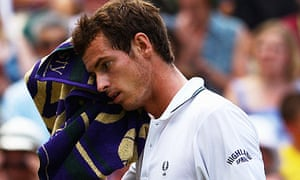 Andy Murray in action against Andy Roddick