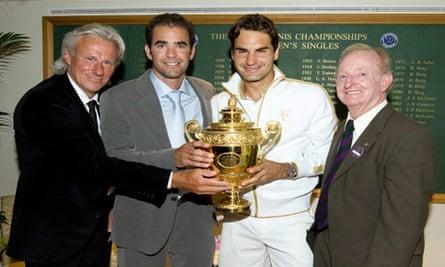 Borg Sampras Federer Laver