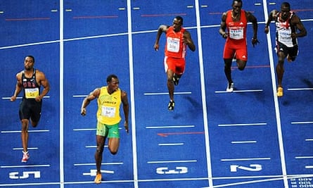 Usain Bolt wins the 100m at the World Championships in Berlin