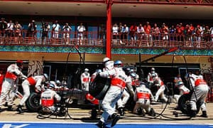 Lewis Hamilton was denied a victory in Valencia after his pit crew made a basic error