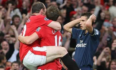 Wayne Rooney and Robin van Persie