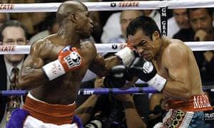 Floyd Mayweather Juan Manuel Marquez unanimous points Las Vegas.