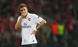 Nicklas Bendtner will miss Arsenal's match with Olympiakos