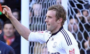 Derby County's Rob Hulse celebrates his goal