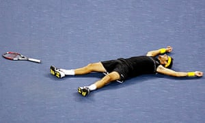 Juan Martín Del Potro after winning the 2009 US Open against Roger Federer