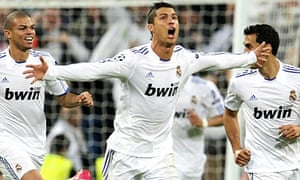 Real Madrid's Portuguese forward Cristiano Ronaldo celebrates