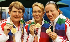 England's archers show off their gold medals