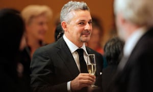 Roberto Baggio is toasted by delegates at the 11th World Summit of Nobel Peace Laureates