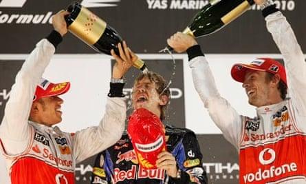 Sebastian Vettel, Lewis Hamilton, Janson Batton
