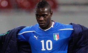 Mario Balotelli was the target for Italian Ultras against Romania last night.