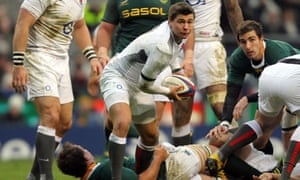 Ben Youngs plays for England against South Africa